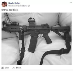 Photo he posted of his gun.