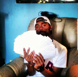 Photo of                               03 Greedo                              from the time that he was holding the hand written songs he wanted to change into cash money.