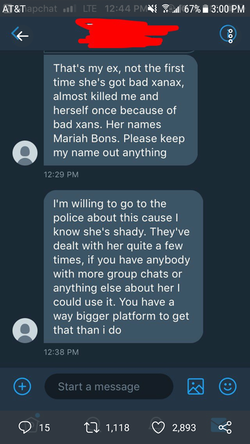 Message from Mariah's ex