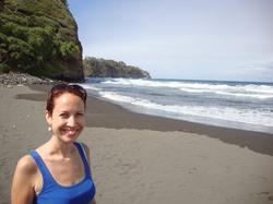 At a beach