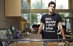 Seigal wearing a Represent t-shirt