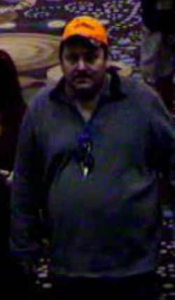 Aubrey C. Trail pictured on surveillance video (November 2017)