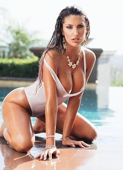 August Ames pictured in white