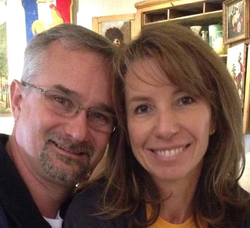 Photo of David Fravor with his wife.