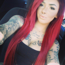 With red hair