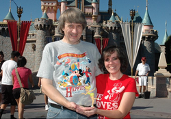 David and Louise pictured in 2010