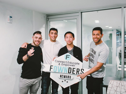 At the Fownders​ headquarters alongside Rob Fajardo​ and Gerard Adams​