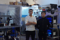 Allan Maman (right) and his business partner, Cooper Weiss, in a 3-D printing lab in Brooklyn, NY.
