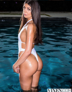 Olivia Lua in the pool (photo via Vixen.com)