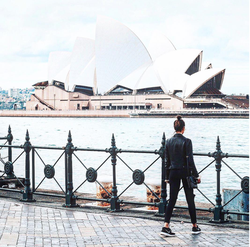 Photo of                               Jourdan Sloane                              while in                               Australia                              .