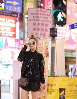 Photo of                               Jourdan Sloane                              taken while in                               Hong Kong                              .