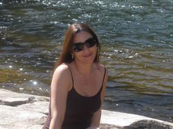 Sara Carter by a lake