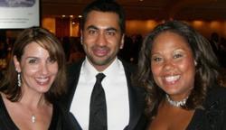 Sara Carter withKal Penn and a friend