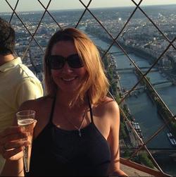 Sara Carter drinking wine in Paris, France [41]