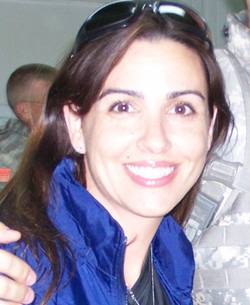 Photo of Sara Carter on a                               United States Armed Forces                               base in                               Afghanistan                                                                                                [8]                                                               