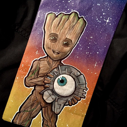 Dominick Cabalo's                              illustration of Young Groot.