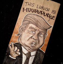 Illustration that                               Dominick Cabalo                              made of                               Donald Trump                              ​ for Halloween that Dominick Cabalo considers the scariest.