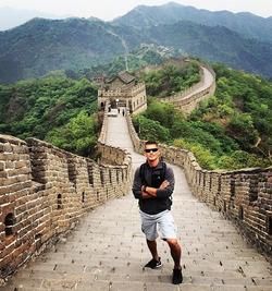 At theGreat Wall of China