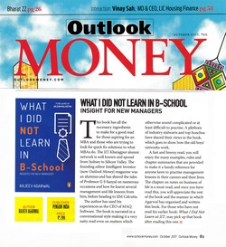 """Outlook Money review of """"What I Did Not Learn In B-School""""."""