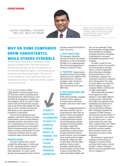 """Entrepreneur article by Rajeev Agarwal entitled """"Why Do Some Companies Grow Consistently, While Others Struggle""""."""