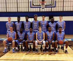 John Rigsby in the photography for the University Basketball team.