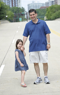 Paul Bauer with his daughter Grace Bauer.
