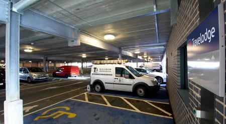 Manchester Salford Quays - Hotel car park