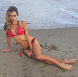 Lauren at the beach.