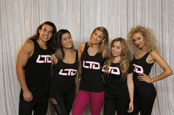 Lexy Panterra with her LTO Fitness instructors