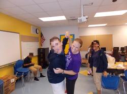 Melissa Bonkoski with students                                                                          [8]                                                                       