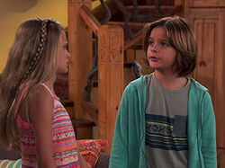 Mace Coronel with                               Lizzy Greene                              ​ in                                                Nicky, Ricky, Dicky & Dawn                                ​