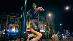 "Mark Ferris in The Wanted​'s music video for ""We Only the Night"""