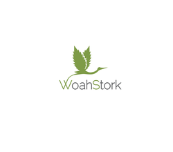WoahStork's logo, which features a stork (insinuating delivery) with cannabis leaf wings.