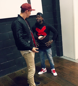 With Kevin Hart​