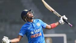 Shubman Gill celebrates a century for India U19 against England U19[2]