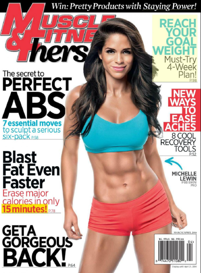 Michelle on the cover of Muscle & Fitness