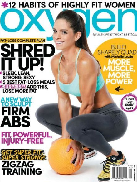 Michelle on the cover of Oxygen