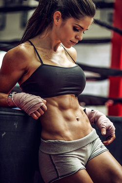 Photo of Michelle in the gym