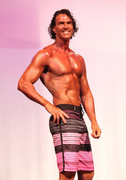 Sean Grove                              at one of the body sculpting competitions that he formed a part of.