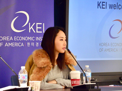 Speaking on a panel