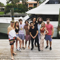 Coplan with friends at BTC Miami in January 2018