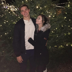 Katie Anna                              with her ex-boyfriend,                               Ben Kebbell                              .