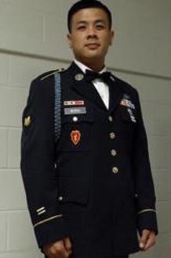 Albert Wong in uniform