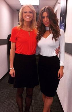 Emma with                               Kellyanne Conway                              