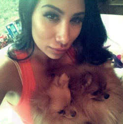 Shawana Chaudhary pictured with a dog