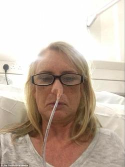 Joy Smith receiving treatment