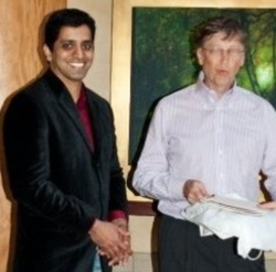 Karthik Jaganathan with Bill Gates​.