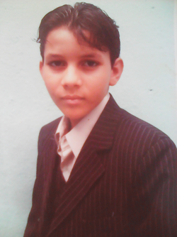 Emil Cerda when he was 8 years old. I was going to start an event as a master of ceremonies