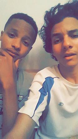Emil Cerda with his childhood friend: Yunel Contreras