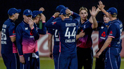 Will Jacks celebrates taking a wicket for England U-19s